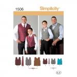 Pluss-poiste, pluss-meeste ja pikkade klassikalised pidžaamad ja hommikumantlid ja vestid, suurused: A (S - L / 1XL - 5XL), Simplicity Pattern #1506