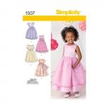 Mudilaste ja laste eriliste sündmuste kleit, Simplicity Pattern #1507