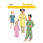 Toddlers` and Child`s Sleepwear and Robe, Simplicity Pattern #1572