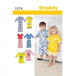 Toddlers` Loungewear, Sizes: A (1/2-1-2-3-4), Simplicity Pattern #1574