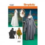 Naiste, meeste ja teismeliste kostüümid, suurused: A (XS-S-M-L-XL), Simplicity Pattern #1582