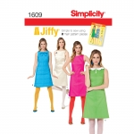 Naiste Jiffy 1960`ndate vintage kleit, Simplicity Pattern #1609