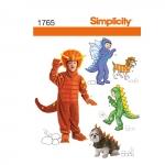Laste ja koera kostüümid, suurused: A (3-4-5-6-7-8), Simplicity Pattern #1765