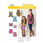 Learn to Sew Child`s & Girls` Sportswear, Simplicity Pattern #1786