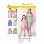Learn to Sew Child`s & Girl`s Dresses, Simplicity Pattern #2241