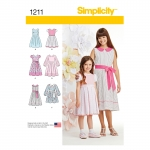 Laste ja tüdrukute kleit kahes pikkuses, Simplicity Pattern #1211