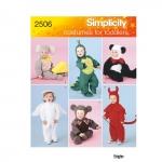 Mudilaste kostüümid, suurused: A (1/2-1-2-3-4), Simplicity Pattern #2506