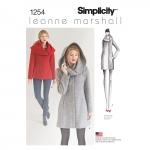 Naiste Leanne Marshall mantel või jakk, Simplicity Pattern #1254