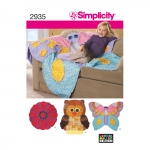 Rag Quilts, Sizes: OS (ONE SIZE), Simplicity Pattern #2935