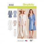 Women`s Separates Sized XXS to XXL, Sizes: A (XXS-XS-S-M-L-XL-XXL), Simplicity Pattern #8059