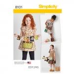 Laste kleit ja tuunika Dottie Angel`ilt, suurused: A (3-4-5-6-7-8), Simplicity Pattern #8101
