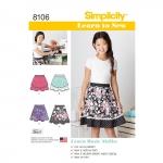 Õpi Õmblemist: seelikud tüdrukutele ja tüdrukutele Pluss, Simplicity Pattern #8106