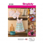 Towel Dresses, Pot Holders and Oven Mitts, Sizes: OS (ONE SIZE), Simplicity Pattern #8109