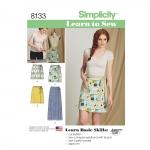 Õpi Õmblemist: hõlmikseelikud, suurused: A (6-8-10-12-14-16-18), Simplicity Pattern #8133