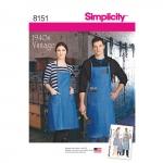 Poiste, tüdrukutes,Naiste ja meeste vintage põlled, suurused: A (kõik suurused), Simplicity Pattern #8151