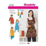 Naiste vintage 1970`ndate põlled, suurused: A (XS-S-M-L), Simplicity Pattern #8152