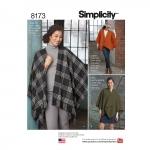 Naiste fliisist hõlmikpontšo, Simplicity Pattern #8173
