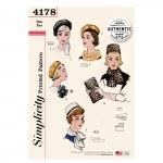 Naiste Vintage 60`ndate aksessuaarid Size: OS (ONE SIZE) Simplicity Pattern #4178