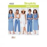 Naistele pluss-suuruses: Smart ja Casual riietus, suurused: BB (20W - 28W), Simplicity Pattern #4552