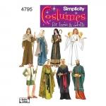 Naiste, meeste ja teismeliste kostüümid, suurused: A (XS,S,M,L,XL), Simplicity Pattern #4795