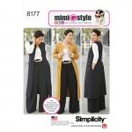 Mimi G Stiilis püksid, mantel või vest, ja trikootoppnaistele ning pluss-suurustele, Simplicity Pattern #8177