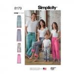Laste, teismeliste ja täiskasvanute salongi püksid, suurused: A (XS - L / XS - XL), Simplicity Pattern #8179