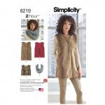Naiste Line vest kolmes pikkuses, suurused: A (XS-S-M-L-XL), Simplicity Pattern #8219