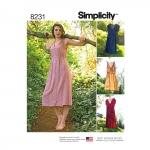 Naiste kleit kahes pikkuses, Simplicity Pattern #8231