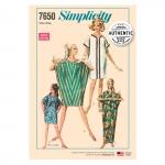 Women's Vintage Caftan Dress, Sizes: OS (ONE SIZE), Simplicity Pattern #7650