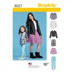 Laste ja tüdrukute spordiriiete lõiked, Simplicity Pattern #8027