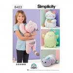 Kiisunukud, topistäidetavad, Simplicity Pattern #8403