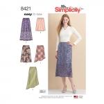 Seelikud hõlmavariatsioonidega kolmes pikkused, Simplicity Pattern # 8421