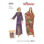 Misses` Vintage Caftans, Sizes: A (S-M-L), Simplicity Pattern #8505