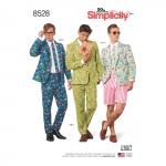 Meeste kostüüm-ülikond, Simplicity Pattern # 8528