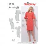 Naiste Imeliselt Istuv: kleit, Simplicity Pattern #8543