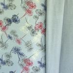 Lilleline, pehme pahupoolega, paksem kangas, orgaanilisest puuvillast (French terry hawkbit), 145cm, OR5502