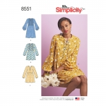 Naiste kleit või tuunika, Simplicity Pattern #8551