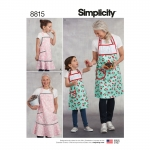 Child`s and Misses` Apron, Sizes: A (S - L / S - L), Simplicity Pattern #8815