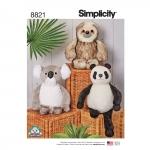 38cm (15`) Loomad, topistäidetavad, Simplicity Pattern #8821