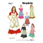 Naiste põlled, suurused: A (S-M-L), Simplicity Pattern #8827