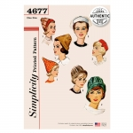 Vintage Set of Hats, Sizes: OS (ONE SIZE), Simplicity Pattern #4677