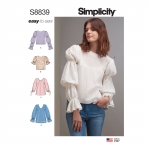 Naiste pullovertuunika või topid, Simplicity Pattern #S8839