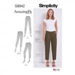 Naiste ja väikesekasvuliste Petite-naiste Imeliselt-Istuvad püksid, Simplicity Pattern #S8842