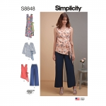 Misses` Dress, Tops and Pants, Simplicity Pattern #S8848