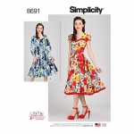 Sew Chic kleidid, Simplicity Pattern #8691