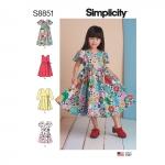 Laste kleidid, suurused: A (3-4-5-6-7-8), Simplicity Pattern #S8851