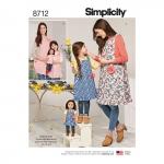 Laste, naiste ja 45 cm pikkuse nuku põlled, suurused: A (S - L / S - L), Simplicity Pattern #8712