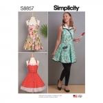 Misses` Aprons, Sizes: A (S-M-L), Simplicity Pattern #S8857