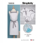 Perekonna vannipäeva tarvikud, suurused (kÕIk SUURUSED), Simplicity Pattern #S 8858