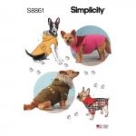 Koera mantlid, suurused: A (S-M-L), Simplicity Pattern #S8861